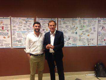 Da destra il segretario generale del Sicet Nino Falotico e il presidente di Federcasa Luca Talluri